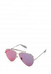 Купить Очки солнцезащитные Alexander McQueen серебряный AL001DWQYL38 Италия