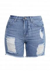 Купить Шорты джинсовые By Swan голубой BY004EWIUE52