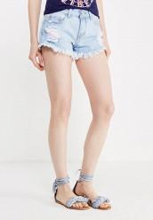 Купить Шорты джинсовые By Swan голубой BY004EWTTJ28