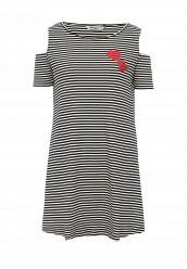 Купить Платье Desigual черно-белый DE002EWOQQ66 Испания