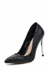 Купить Туфли LOST INK FABIO TEXTURED METAL HEEL COURT черный LO019AWPTE42 Китай