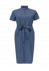 Купить Платье джинсовое SHIRT DRESS IN DENIM LOST INK PLUS синий LO035EWRWB36