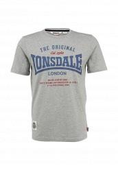 Купить Футболка Lonsdale серый LO789EMFJP03
