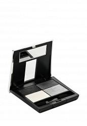 Купить Тени 4-х цветные для глаз Eye Colors тон 03 черный, серый, белый, серебрянный песок Make Up Factory MA120LWHDR92