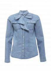 Купить Рубашка джинсовая Miss Miss by Valentina голубой MI059EWRAR22 Италия