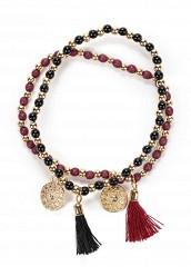 Купить Комплект браслетов 2 шт. Modis бордовый, черный MO044DWUZK38
