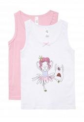 Купить Комплект маек 2 шт. белый, розовый MO044EGWUO38 Китай