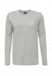 Купить Лонгслив M NSW TOP LS JSY CLUB Nike серый NI464EMJFP40