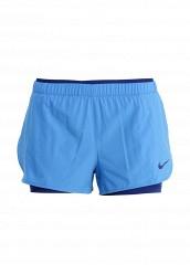 Купить Шорты спортивные FULL FLEX 2 IN 1 2.0 SHORT Nike голубой NI464EWHBM94