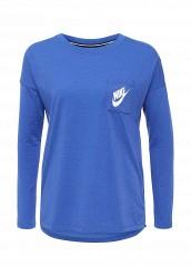 Купить Лонгслив W NSW SIGNAL TOP LS Nike синий NI464EWJFX22
