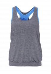Купить Майка спортивная W TANK PRO INSIDE Nike серый, синий NI464EWJGA59