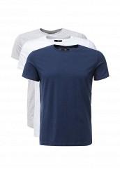 Купить Комплект футболок 3 шт. oodji белый, серый, синий OO001EMLQG32