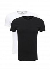 Купить Комплект футболок 2 шт. oodji белый, черный OO001EMUTX26