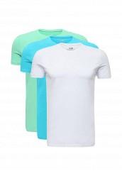 Купить Комплект футболок 3 шт. oodji белый, голубой, зеленый OO001EMUTX33