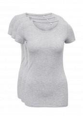 Купить Комплект футболок 3 шт. oodji серый OO001EWNUD39