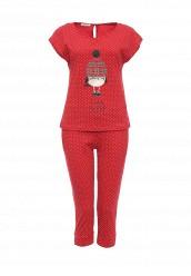Купить Пижама oodji красный OO001EWOFJ40