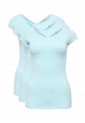 Купить Комплект футболок 3 шт. oodji голубой OO001EWOHR14