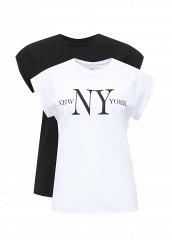 Купить Комплект футболок 2 шт. oodji белый, черный OO001EWPGV16