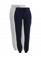 Купить Комплект брюк спортивных 2 шт. oodji серый, синий OO001EWRPJ90 Узбекистан