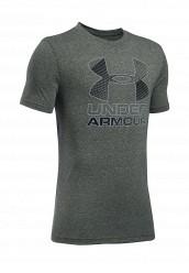 Купить Футболка спортивная UA Hybrid Big Logo Under Armour хаки UN001EBTVN03