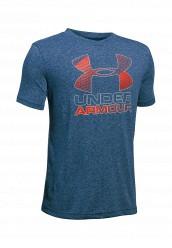 Купить Футболка спортивная UA Hybrid Big Logo Under Armour синий UN001EBTVN06