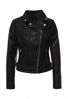 Куртка кожаная, Adrixx, цвет: черный. Артикул: AD021EWQVN80. Женская одежда / Верхняя одежда / Косухи