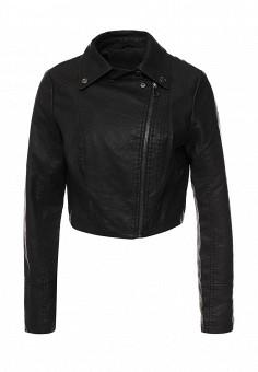 Куртка кожаная, Adrixx, цвет: черный. Артикул: AD021EWQVN83. Женская одежда / Верхняя одежда / Косухи
