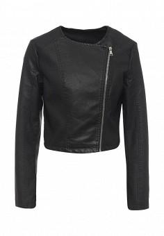 Куртка кожаная, Adrixx, цвет: черный. Артикул: AD021EWRCA35. Женская одежда / Верхняя одежда / Кожаные куртки