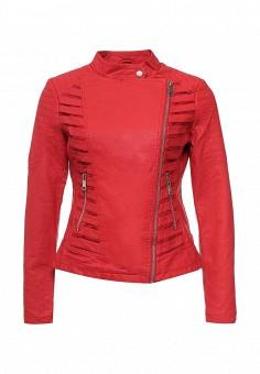 Куртка кожаная, Adrixx, цвет: красный. Артикул: AD021EWRCA39. Женская одежда / Верхняя одежда / Косухи