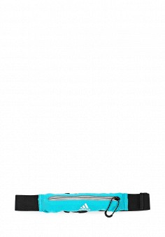 Пояс для бега, adidas Performance, цвет: бирюзовый. Артикул: AD094DUQML79. Мужские аксессуары / Сумки / Поясные сумки