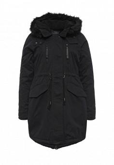 Куртка утепленная, Alcott, цвет: черный. Артикул: AL006EWLDP55. Женская одежда / Верхняя одежда / Парки