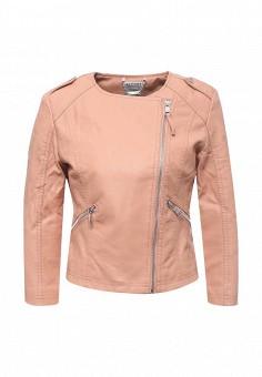 Куртка кожаная, Alcott, цвет: розовый. Артикул: AL006EWRAV48. Женская одежда / Верхняя одежда / Кожаные куртки