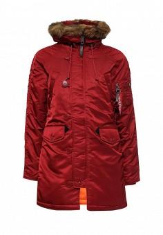Парка, Alpha Industries, цвет: красный. Артикул: AL507EWNHI52. Женская одежда / Верхняя одежда / Парки