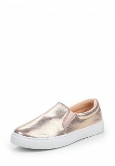 Слипоны, Angelo Milano, цвет: золотой. Артикул: AN053AWQQA19. Женская обувь