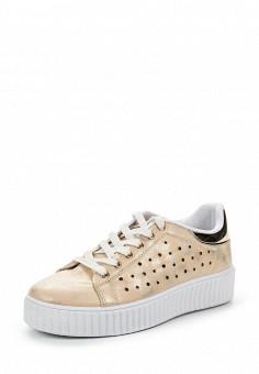 Кеды, Angelo Milano, цвет: золотой. Артикул: AN053AWRZY31. Женская обувь