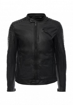 Куртка кожаная, Antony Morato, цвет: черный. Артикул: AN511EMLBN48. Мужская одежда / Верхняя одежда / Кожаные куртки
