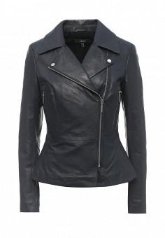 Куртка кожаная, Arma, цвет: синий. Артикул: AR020EWQOF39. Женская одежда / Верхняя одежда / Косухи