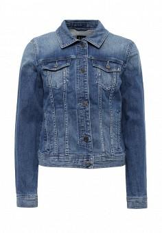 Куртка джинсовая, Armani Exchange, цвет: синий. Артикул: AR037EWPWQ95. Женская одежда / Верхняя одежда / Джинсовые куртки