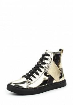 Кеды, Armani Jeans, цвет: золотой. Артикул: AR411AWJSO44. Женщинам / Обувь / Кроссовки и кеды