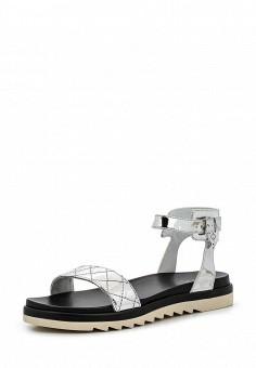 Сандалии, Armani Jeans, цвет: серебряный. Артикул: AR411AWPWC81. Премиум / Обувь