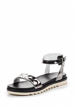 Сандалии, Armani Jeans, цвет: серебряный. Артикул: AR411AWPWC82. Премиум / Обувь