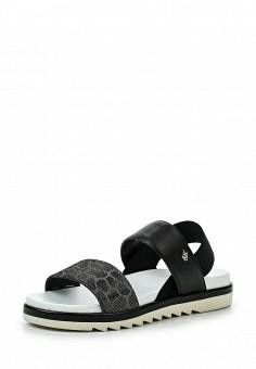 Сандалии, Armani Jeans, цвет: черный. Артикул: AR411AWPWC84. Премиум / Обувь