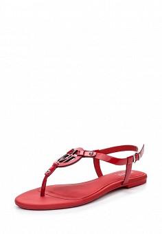 Сандалии, Armani Jeans, цвет: красный. Артикул: AR411AWPWD01. Премиум / Обувь