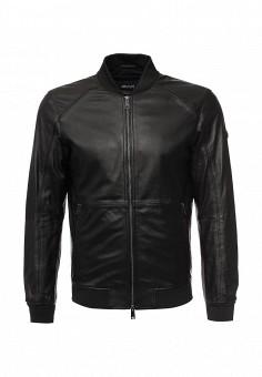 Куртка кожаная, Armani Jeans, цвет: черный. Артикул: AR411EMOVS27. Мужская одежда / Верхняя одежда / Кожаные куртки