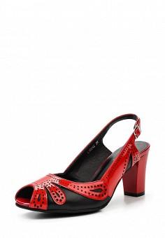 Босоножки, Ascalini, цвет: красный. Артикул: AS006AWSQG35. Женская обувь / Босоножки