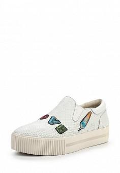 Слипоны, Ash, цвет: белый. Артикул: AS069AWQQY71. Женская обувь
