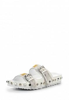 Шлепанцы, Ash, цвет: белый. Артикул: AS069AWQUP38. Женская обувь