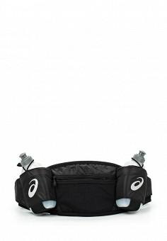 Пояс для бега, ASICS, цвет: черный. Артикул: AS455DUJHX16. Мужские аксессуары / Сумки / Поясные сумки