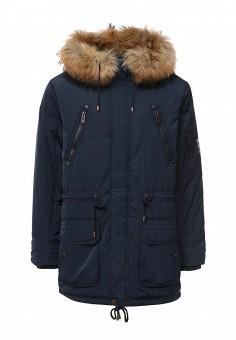 Куртка утепленная, Baon, цвет: синий. Артикул: BA007EMLNS90. Мужская одежда / Верхняя одежда / Пуховики и зимние куртки