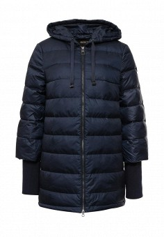 Пуховик, Baon, цвет: синий. Артикул: BA007EWLOC32. Женская одежда / Верхняя одежда / Пуховики и зимние куртки